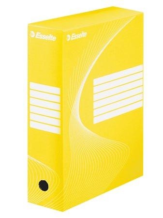 "ESSELTE Archiváló doboz, A4, 100 mm, karton, ESSELTE ""Boxycolor"", sárga"