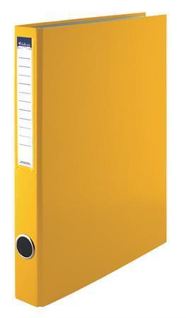 VICTORIA Gyűrűs könyv, 4 gyűrű, 35 mm, A4, PP/karton, VICTORIA, sárga