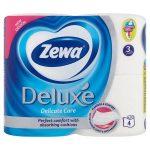 """ZEWA Toalettpapír, 3 rétegű, 4 tekercses, ZEWA """"Deluxe"""", fehér"""