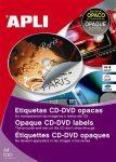 APLI Etikett, CD/DVD, A4, fedőetikett, APLI