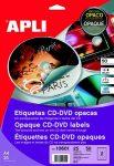 """APLI Etikett, CD/DVD, A4, teljes lefedettségű, matt, APLI """"Mega"""""""
