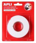APLI Ragasztó tekercs, 3D, kétoldalas, szivacs, APLI, 19 mm x 2,28 m, fehér