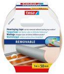 """TESA Ragasztószalag, kétoldalas, textilerősítésű, 50 mm x 5 m, TESA """"Removable"""""""