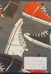 Hangjegy füzet cipő mintás A/5 36-32