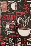 Spirálfüzet T-Creativ A4 70 lapos vonalas Coffee