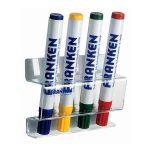 Táblamarker tartó mágneses 4db marker tárolására alkalmas FRANKEN átlátszó
