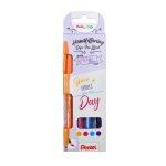 Ecsettoll, kalligrafikus hajlékony hegyű, Pentel SES15 Happy 4-es klt.