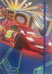 Gumis mappa A5 Disney Pixar Verdák Neon (A szélek a felgyűrődés ellen ragasztva, a képeken fotózva)