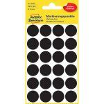 Etikett címke, jelölésre o18 mm, 24 címke/ív, 4 ív/doboz, Avery fekete