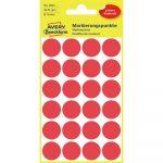 Etikett címke, jelölésre o18 mm, 24 címke/ív, 4 ív/doboz, Avery piros