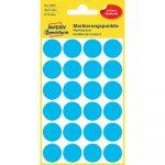 Etikett címke, jelölésre o18 mm, 24 címke/ív, 4 ív/doboz, Avery kék