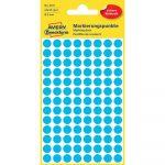 Etikett címke, jelölésre o8 mm, 104 címke/ív, 4 ív/doboz, Avery kék