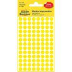 Etikett címke, jelölésre o8 mm, 104 címke/ív, 4 ív/doboz, Avery sárga