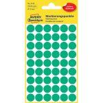 Etikett címke, jelölésre o12 mm, 54 címke/ív, 5 ív/doboz, Avery zöld