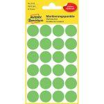 Etikett címke, jelölésre o18 mm, neon 24 címke/ív, 4 ív/doboz, Avery zöld