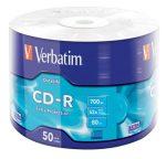 """VERBATIM CD-R lemez, 700MB, 52x, 50 db, zsugor csomagolás, VERBATIM """"DataLife"""""""