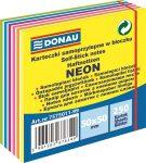DONAU Öntapadó jegyzettömb, 50x50mm,250 lap, DONAU,  fehér és neon színek