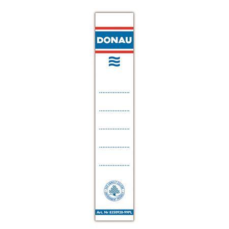 DONAU Cserecímke, iratrendezőhöz, kétoldalas, 28x153mm, DONAU, fehér