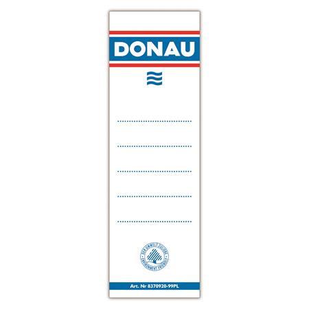 DONAU Cserecímke, iratrendezőhöz, kétoldalas, 48x153 mm, DONAU, fehér