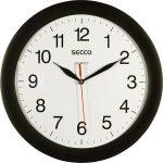 SECCO Falióra, 30 cm,  SECCO, fekete kerettel