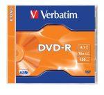 VERBATIM DVD-R lemez, AZO, 4,7GB, 16x, 1 db, normál tok, VERBATIM