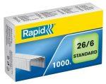 """RAPID Tűzőkapocs, 26/6, horganyzott, RAPID """"Standard"""""""