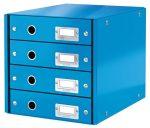 """LEITZ Irattároló, laminált karton, 4 fiókos, LEITZ """"Click&Store"""", kék"""