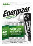 """ENERGIZER Tölthető elem, AAA mikro, 4x700 mAh, ENERGIZER """"Power Plus"""""""