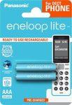 """PANASONIC Tölthető elem, AAA mikro, 2x550 mAh, előtöltött, PANASONIC """" EneloopLite"""""""