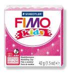 """FIMO Gyurma, 42 g, égethető, FIMO """"Kids"""", glitteres rózsaszín"""