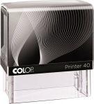 "COLOP Bélyegző, COLOP ""Printer IQ 40"" fekete ház - fekete párnával"