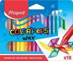 """MAPED Zsírkréta, MAPED """"Color'Peps Wax"""", 18 különböző szín"""
