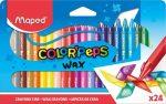 """MAPED Zsírkréta, MAPED """"Color'Peps Wax"""", 24 különböző szín"""