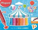 Zsírkréta MAPED Color Peps Maxi Wax 12 szín