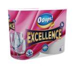 """. Háztartási papírtörlő, 3 rétegű, 2 tekercses, """"Ooops! Excellence"""""""
