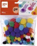 """APLI Pom-pom, APLI """"Creative"""", vegyes színek"""