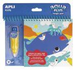 """APLI Színezőfüzet, vízbázisú, APLI """"Aqua Fun"""""""