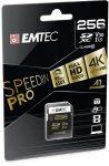 "EMTEC Memóriakártya, SDXC, 256GB, UHS-I/U3/V30, 95/85 MB/s, EMTEC ""SpeedIN"""