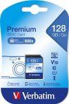 "VERBATIM Memóriakártya, SDXC, 128GB, CL10/U1, 90/10 MB/s, VERBATIM ""Premium"""