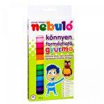 Gyurma színes 12 db -os 200g NEBULO