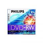 DVD-RW 4X újraírható DVD, normál tokban PHILIPS