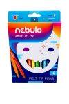 NEBULO Filctoll készlet, 1 mm, NEBULO, 12 különböző szín