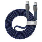 "RIVACASE USB kábel, USB-C - USB-C, 1,2 m, RIVACASE ""PS6105"", kék"