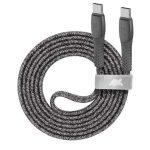 "RIVACASE USB kábel, USB-C - USB-C, 1,2 m, RIVACASE ""PS6105"", szürke"