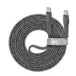 "RIVACASE USB kábel, USB-C - USB-C, 2,1 m, RIVACASE ""PS6105 GR21"", szürke"