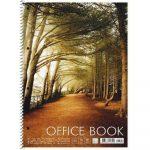 Spirálfüzet A4 kockás 80 lap SHKOLYARYK Office book