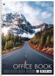 "SHKOLYARYK Spirálfüzet, A4+, vonalas, 80 lap, SHKOLYARYK ""Office book"", vegyes"