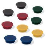 SIGEL Mágneskorong, 25 mm, 10 db/csomag, SIGEL, 5 különböző szín