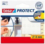 """TESA Zaj- és csúszásgátló korong, 8 mm, TESA """"Protect"""", átlátszó"""