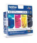 BROTHER LC1100P Tintapatron DCP 185C, 6690CW nyomtatókhoz, BROTHER, b+c+m+y, 1*450 o.+3*325 o.